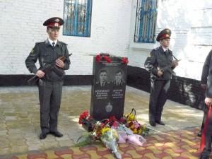 Белореченск, открытие памятника милиционерам