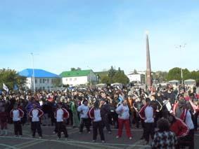 Белореченск, массовый забег и зарядка