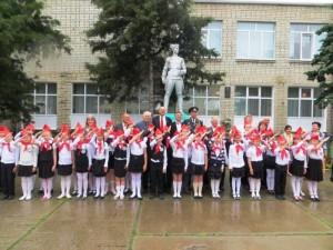 в Белореченске прошла торжественная пионерская линейка