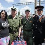 Белореченск, казаки возвернулись с Парада Победы