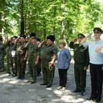 Белореченск, казаки на военно-полевых сборах