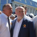 Белореченск, Имгрунт И.И. на открытии бюста Кондратенко Н.И.