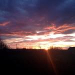 Белореченск, закат