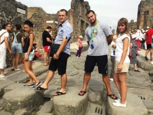 ЕвроХим, молодые специалисты в Италии, Помпеи