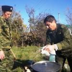 казаки вместе с семьями организовали активный отдых на природе