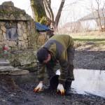 Белореченск, казаки расчищают родник
