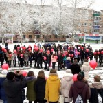 """Молодежь Белореченска провела акцию """"Мы вместе""""."""