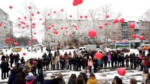 """Молодежь Белореченска провела акцию """"Мы вместе"""""""