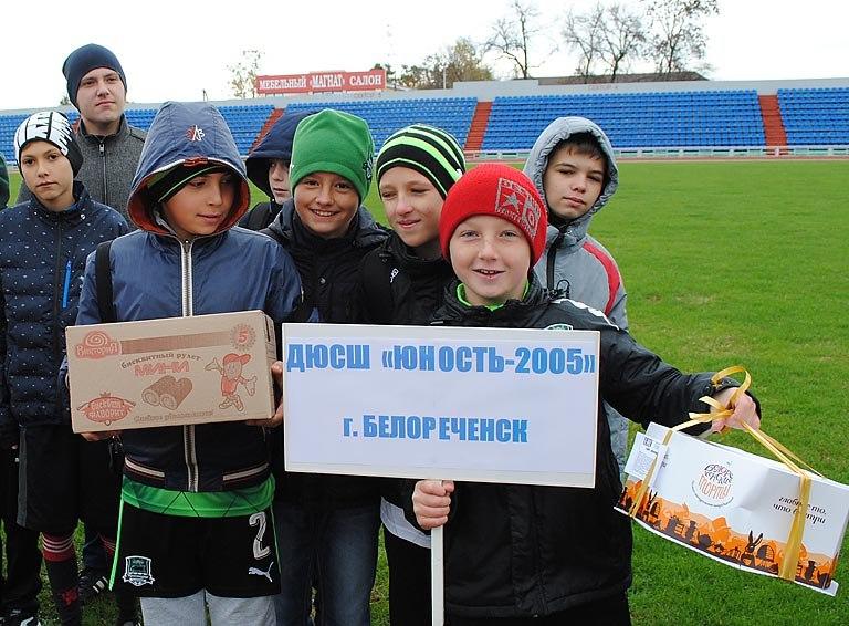 В Белореченске прошёл футбольный турнир памяти сотрудников транспортной полиции