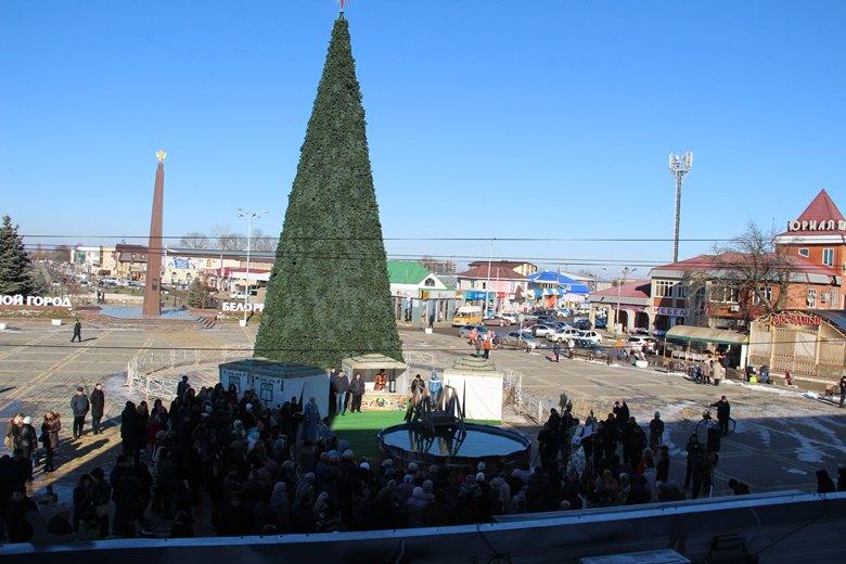 В Белореченске освятили Крещенскую купель на площади Эльна