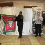 казаки передали музею города Белореченска копию знамени Великовечненского хуторского казачьего общества