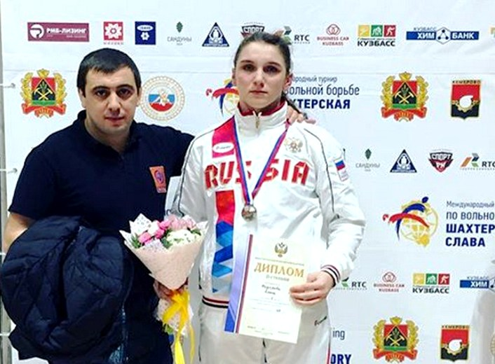 Белореченская спортсменка Ольга Козырева взяла серебро на первенстве России по вольной борьбе