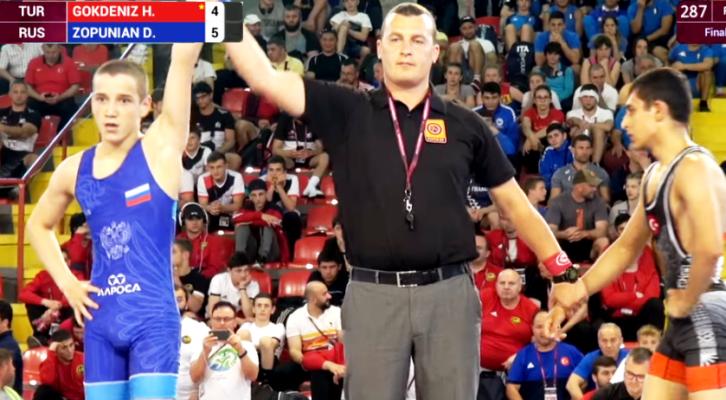 Белореченец взял золото первенства Европы по спортивной борьбе