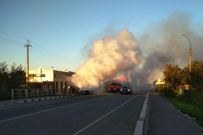 Легковой автомобиль выгорел полностью