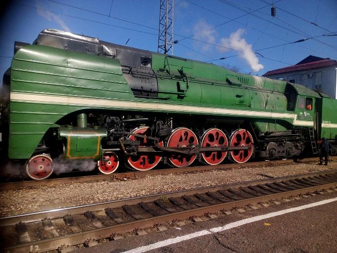 Ретро-поезд проследовал через Белореченск в Абхазию