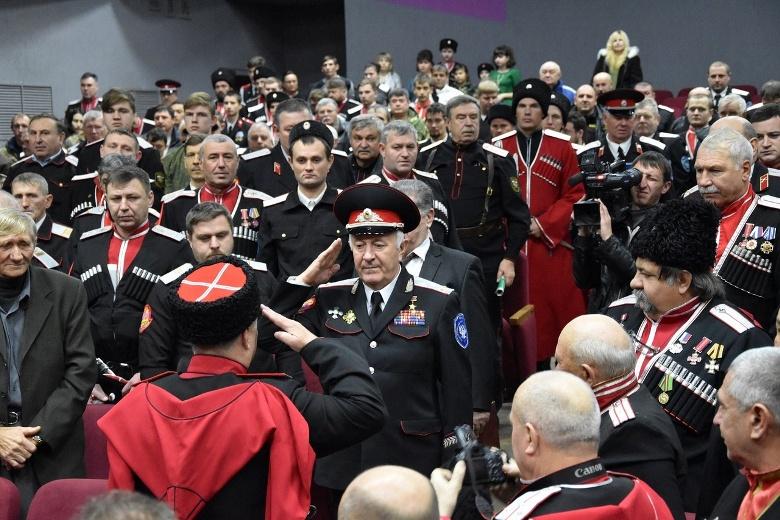 Отчетно-выборный сбор Майкопского казачьего отдела Кубанского казачьего войска