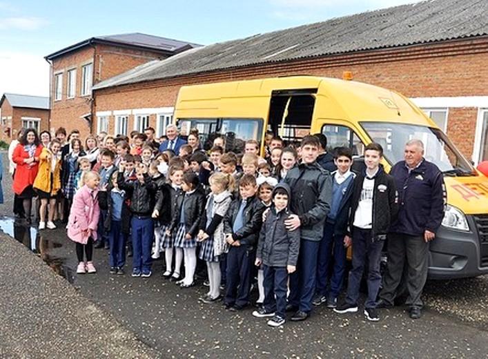 В Белореченский район прибыли три новых школьных автобуса