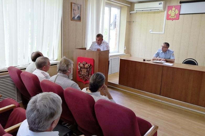 В Белореченском ОМВД  состоялось заседание Общественного совета