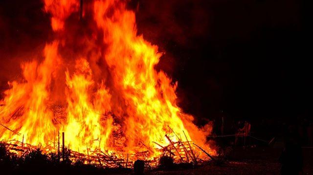 В Новоалексеевском загорелся сеновал