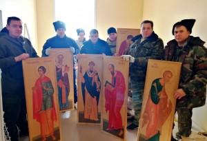 субботник на территории и внутри возводящегося в городе Белореченске храма Святого Георгия Победоносца.