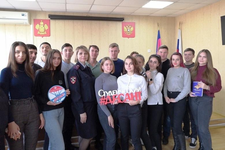 В Белореченском ОМВД высадился «Студенческий десант»