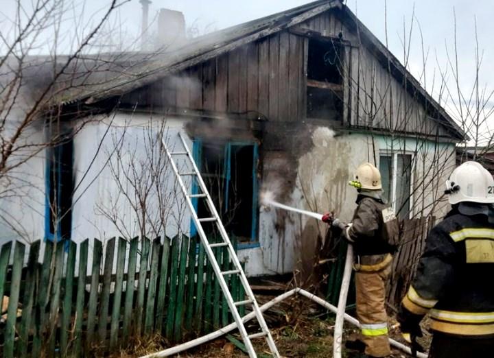 В Белореченском районе в пожаре погиб человек