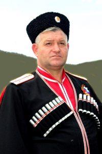 Атаман Белореченского районного казачьего общества сотник С.А.Ефимов