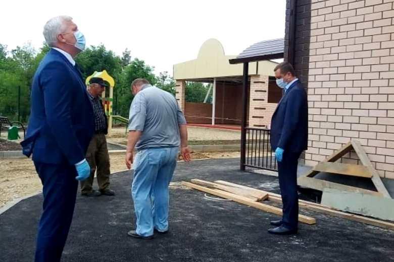 Строительство Детского сада в Первомайском близко к завершению