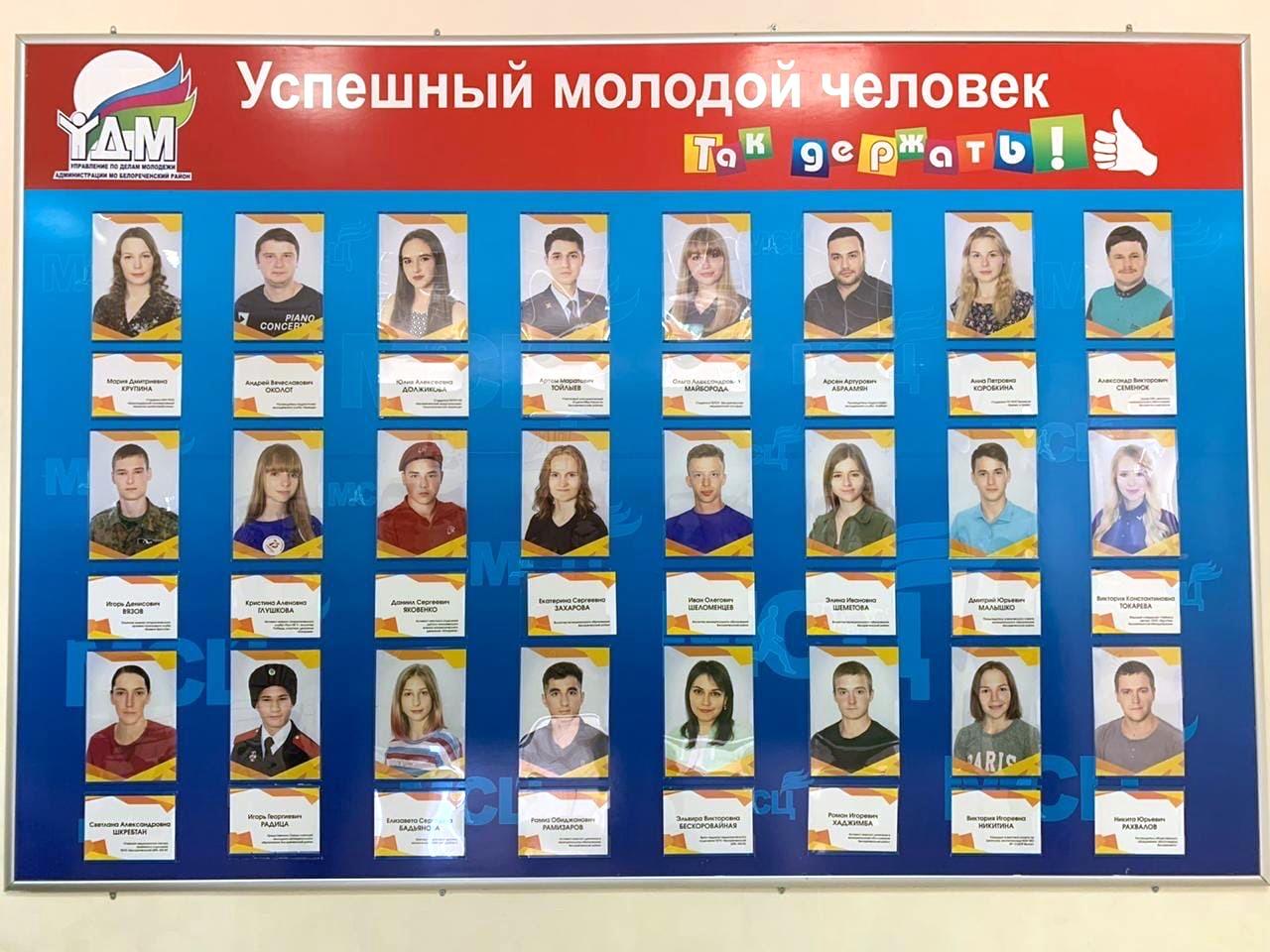 В Белореченске открыли молодежную Доску Почета