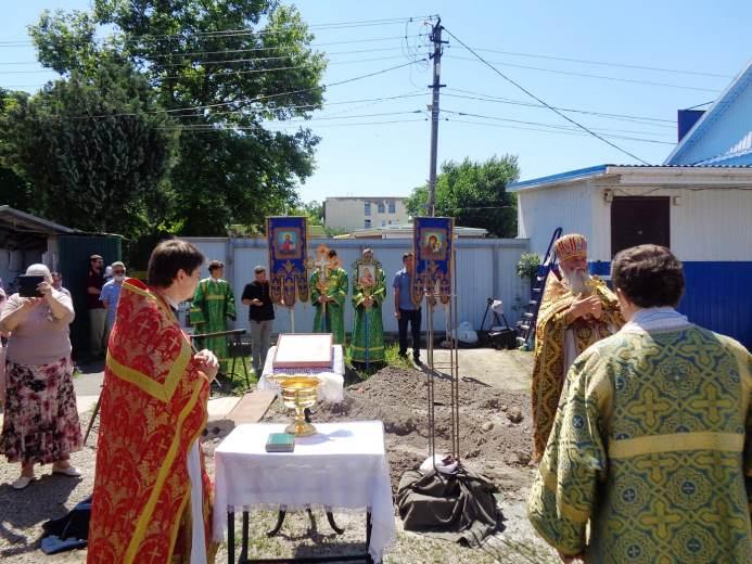 Белореченск: В Свято-Покровском храме начали строительство колокольни