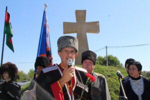 Белореченск Пшехская открытие мемориала бессудно казненным казакам