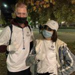 Белореченск, молодые специалисты ЕвроХим БМУ раздают маски прохожим