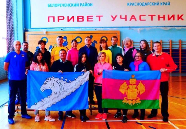 Сборная Белореченского района заняла 1 место в командном соревновании по фоновой ходьбе