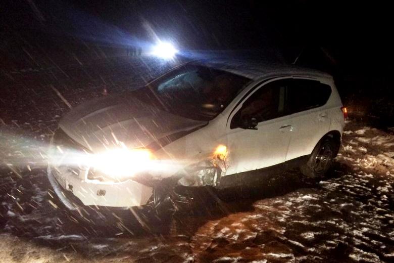 Не учел снегопад – попал в аварию
