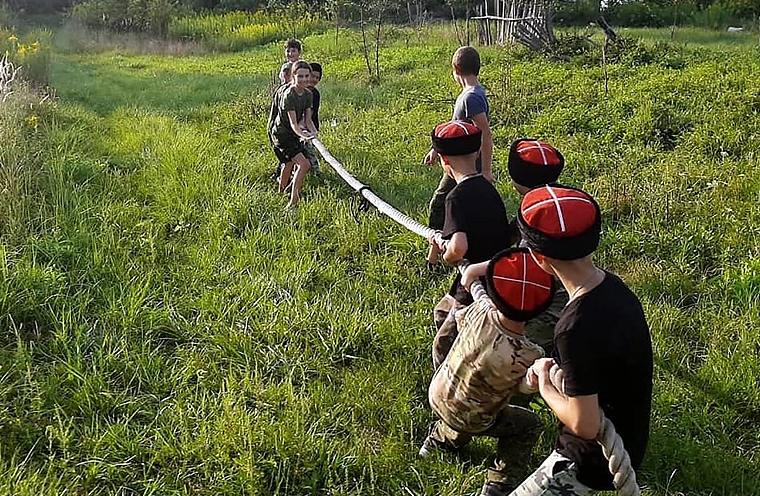 На хуторе Фадеевском в Белореченском районе прошли соревнования казачьей молодёжи